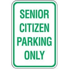 Senior Parking Only
