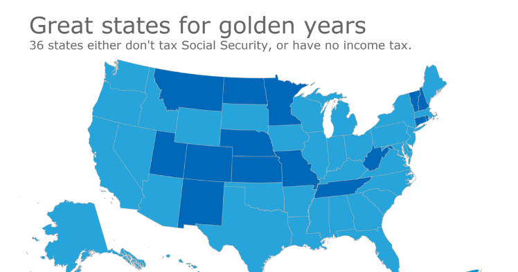 Great States for Golden Years