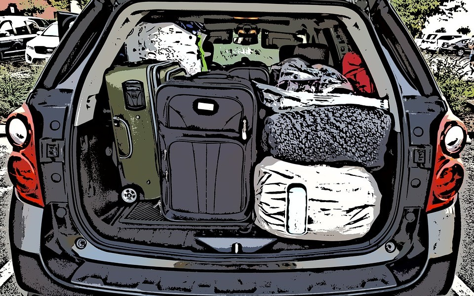 car is packed